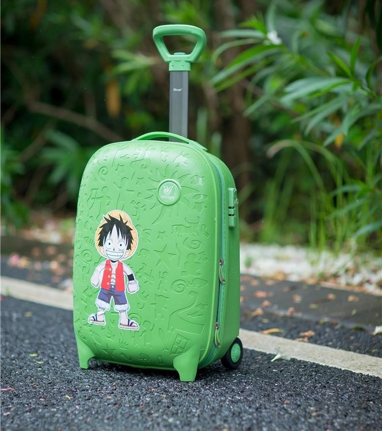 イギリスの大きい札の18寸の子供のスーツケースを引き延ばして箱の男女の学生の漫画のスーツケースに登ります。