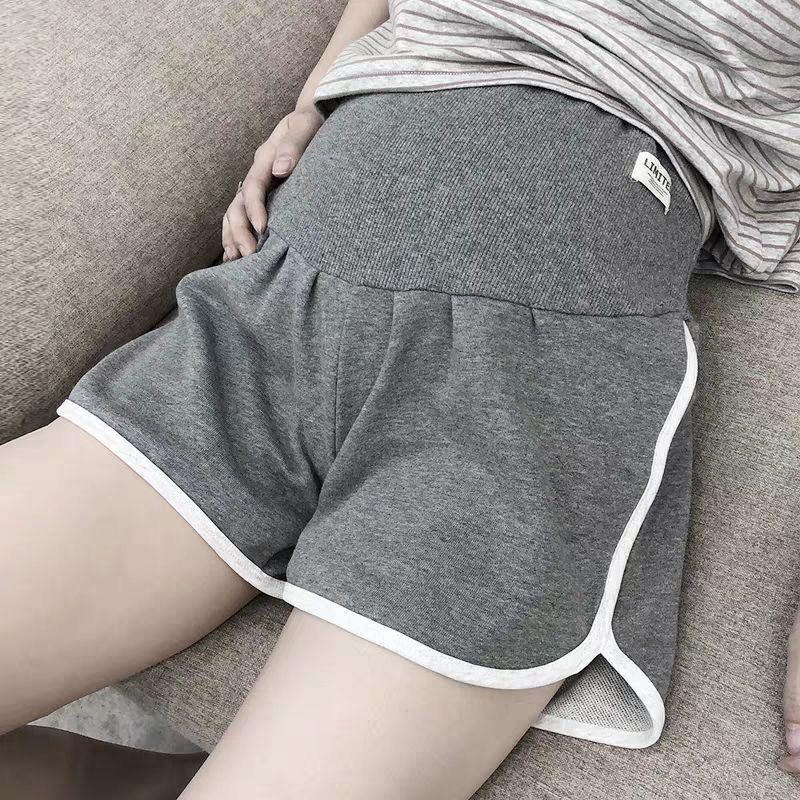 夏季纯棉短裤潮低腰薄款外穿时尚宽松运动裤孕期打底裤孕妇安全裤