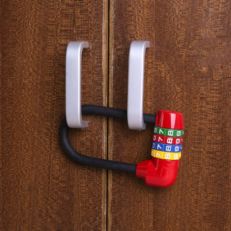 型掛鎖U加長密碼鎖櫥柜鎖具柜子鎖頭家用衣柜柜門文件柜鞋柜包郵