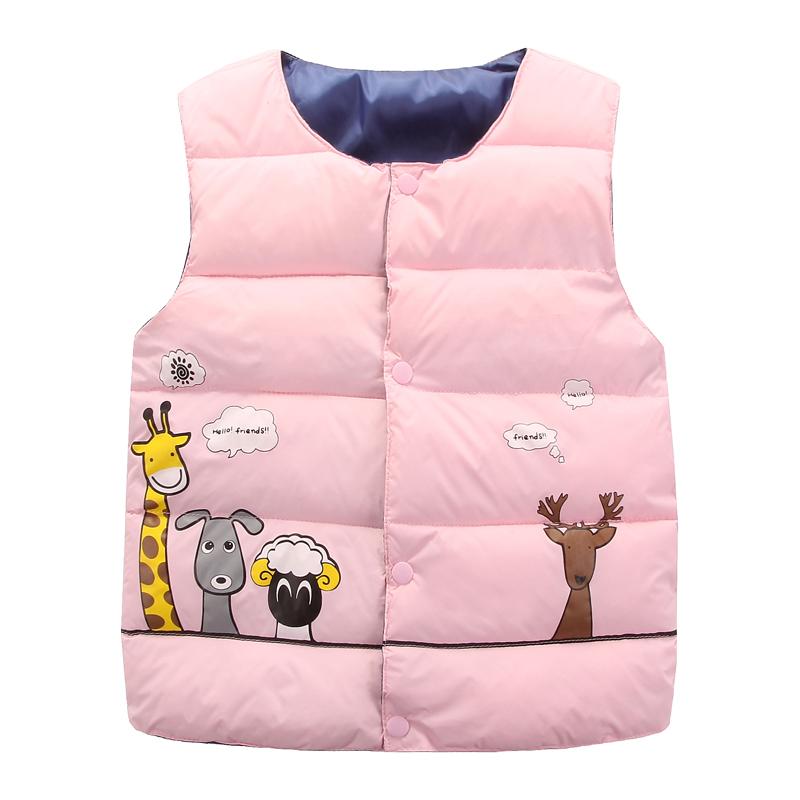 反季特价儿童羽绒棉马甲中小童男女宝宝时尚保暖卡通款棉短款背心