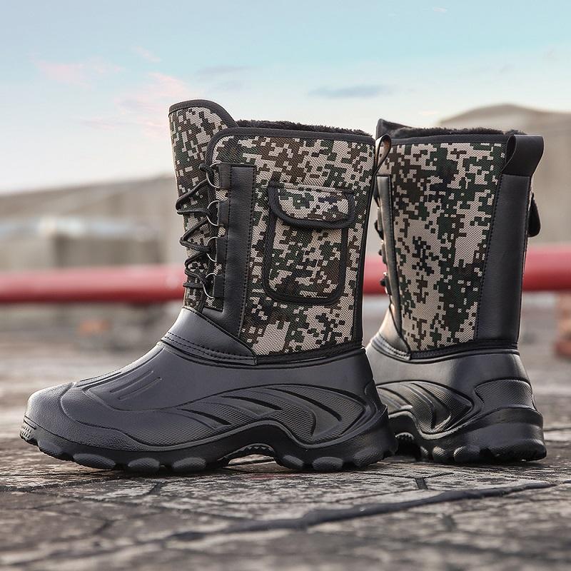 冬天内蒙古放牧鞋防水东北户外加绒带棉保暖大棉鞋男士超厚雪地靴