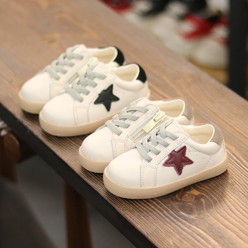 宝宝秋冬鞋子1-3岁小白鞋男童运动鞋小童加绒板鞋婴儿软底学步鞋