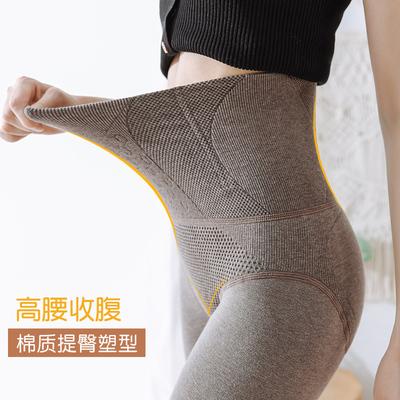 高腰收腹打底褲女外穿棉一體加厚薄絨壓力產后塑形大碼連褲襪秋冬
