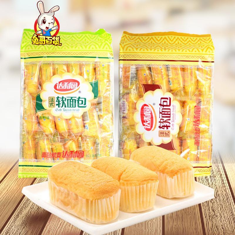达利园法式软面包360g/袋香奶味香橙味早餐面包糕点食品拍2袋包邮