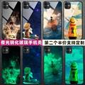 适用海贼王苹果11手机壳夜光玻璃iphone11pro保护套max/xr动漫6s