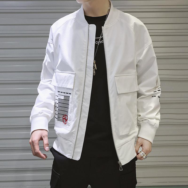 2019春季工装夹克ins超火男 休闲韩版飞行员外套棒球服DS322TP85