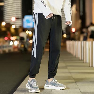 韩版宽松潮流运动裤秋冬季男士夜光休闲裤束脚裤子DS148TP48