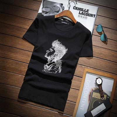 男士韩版短袖t恤夏季新款圆领体恤打底衫百搭上衣服男装DS92TP30