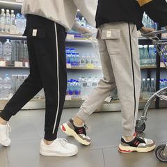 男士休闲裤运动裤2018春秋季束脚小脚哈伦裤子卫裤潮DS15TP45