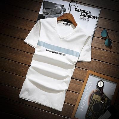 夏季新款短袖t恤男士韩版潮流纯棉上衣服青年半袖体恤衫DS93TP30