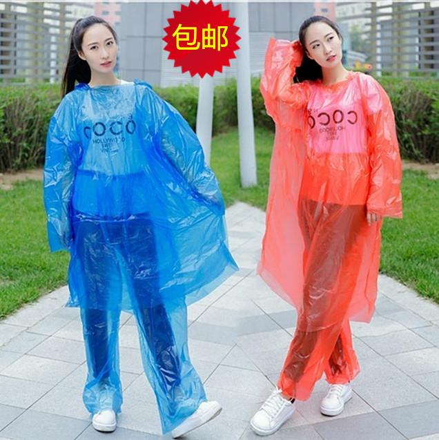 一次性成人透明户外分体塑料河雨衣(非品牌)