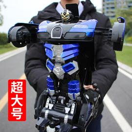 超大感应遥控变形汽车金刚机器人遥控车充电动男孩赛车儿童玩具车图片