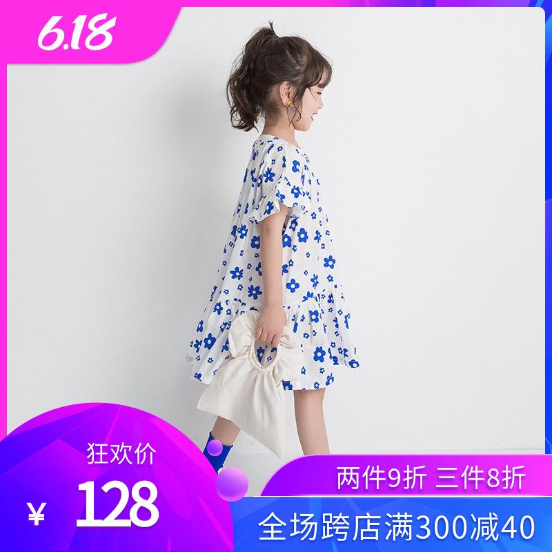 女童碎花连衣裙2020新款夏季纯棉女童小女孩夏天韩国儿童时尚裙子