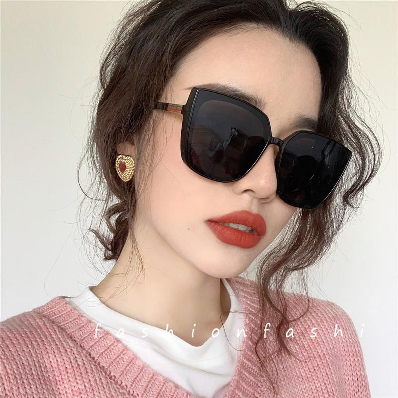 欧美太阳镜女显瘦潮2020新款方大框防紫外线ins眼镜偏光墨镜大脸