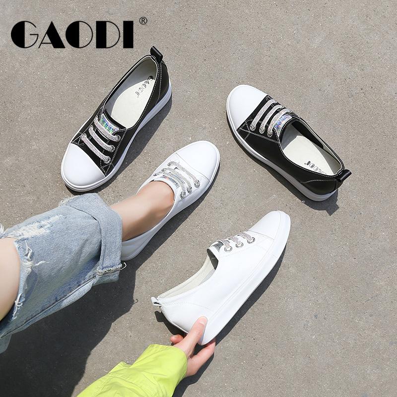 高蒂小白鞋女百搭透气时尚2020夏季新款真皮板鞋内增高休闲女鞋