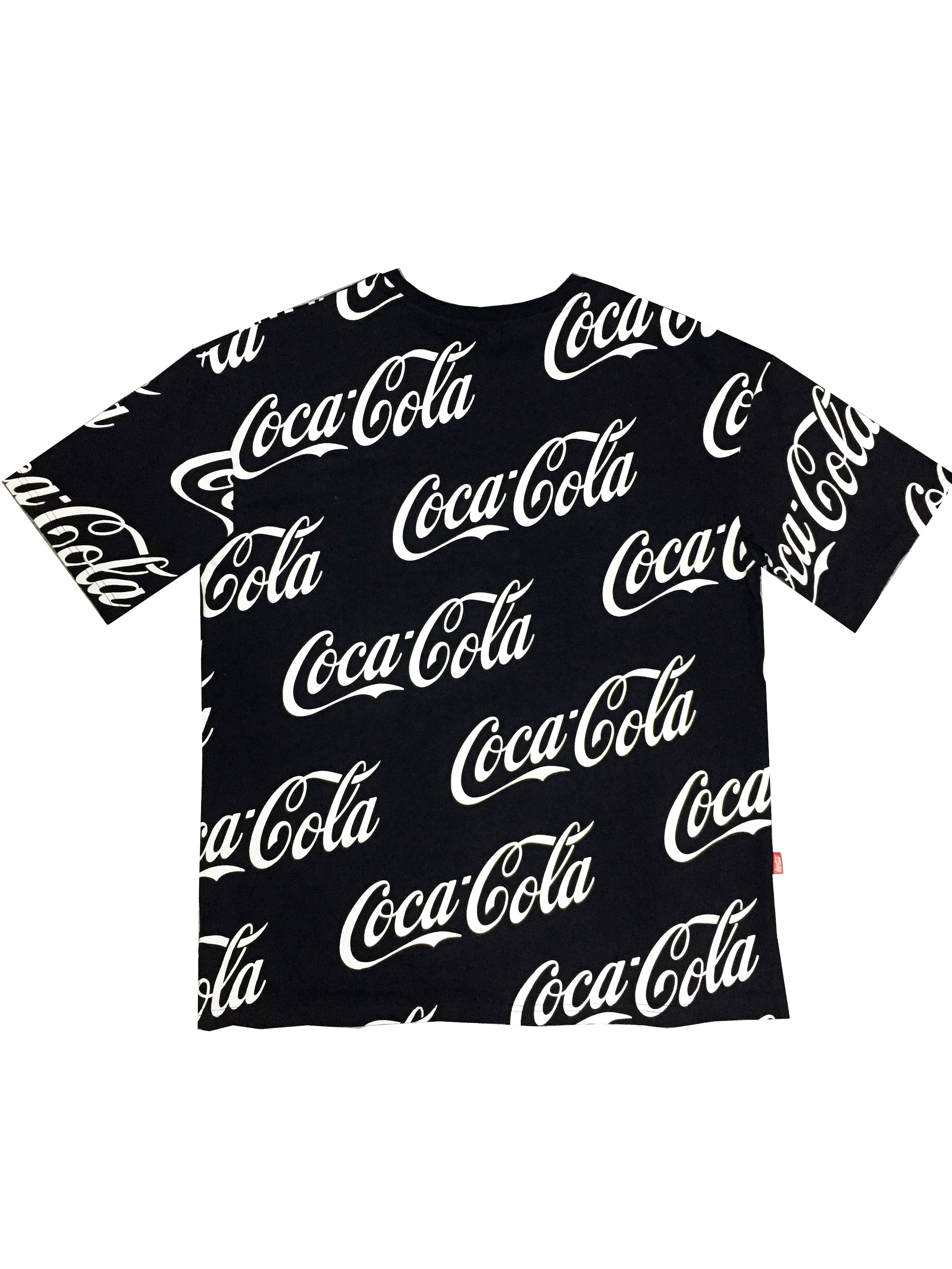 短袖T恤串标男女装情侣半可口可乐联名系列满印宽松大码上衣服体
