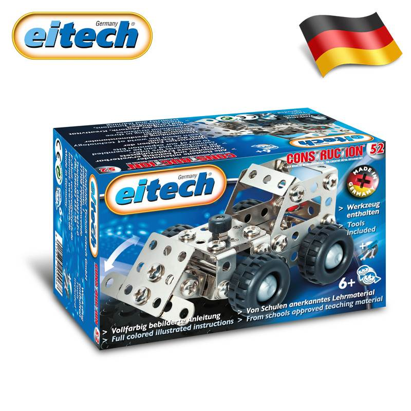 eitech爱泰德国进口入门金属拼装积木玩具拆装车模型男孩子6-8岁