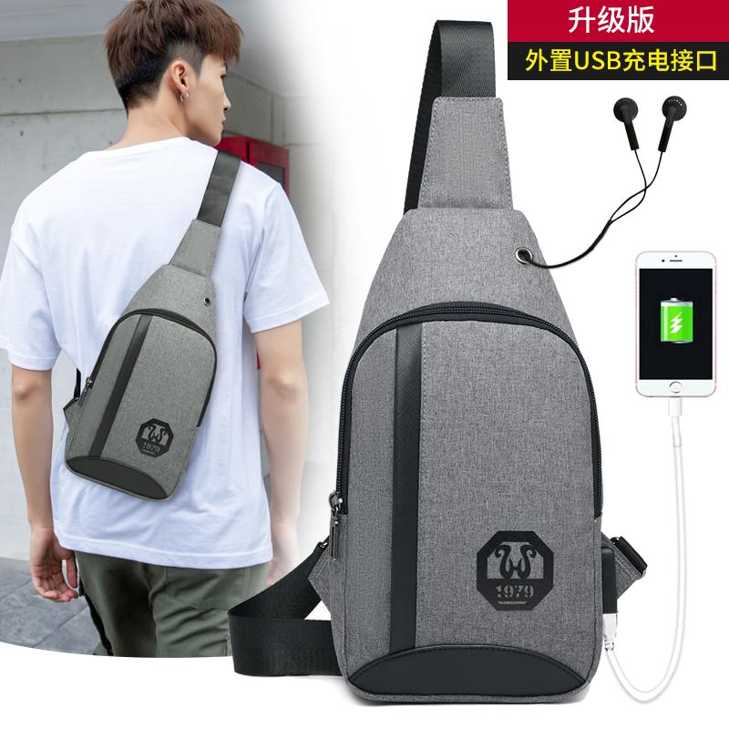 Chest bag mens single shoulder bag Korean fashion leisure mens messenger bag outdoor sports bag womens waist bag new backpack