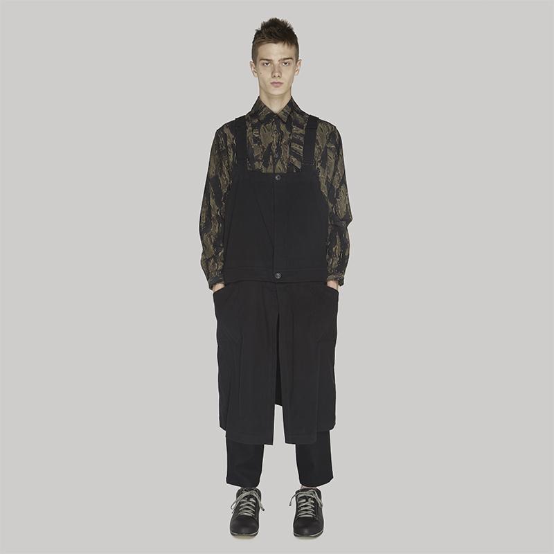 YOJI OOAK 解构男士背带工装裤 yohji日本独立设计师油画裙裤连体