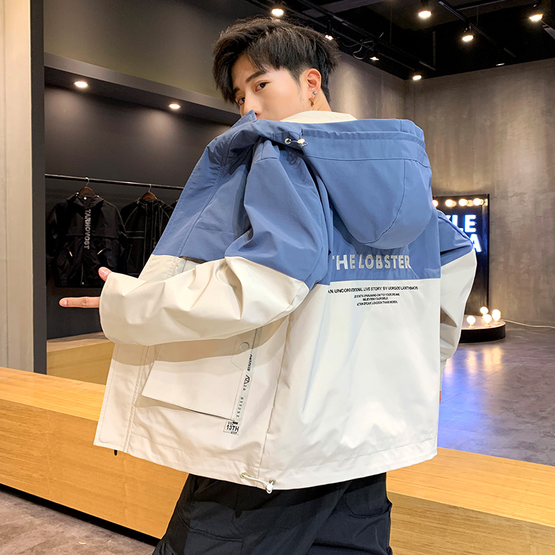 Coat man spring and autumn 2020 new Korean fashion ins work clothes student hooded handsome functional versatile jacket man