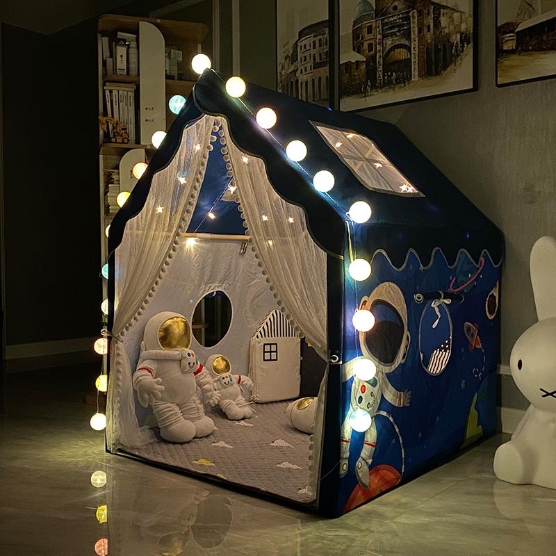 女童床上帐篷儿童室内小户型秘密基地蚊帐2021年新款公主玩具屋