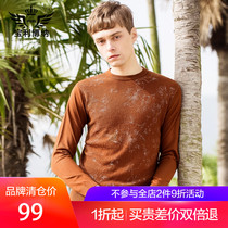 Polaroid Autumn 2018 new mens thin sweater male Korean version trend personality knitted shirt male round collar
