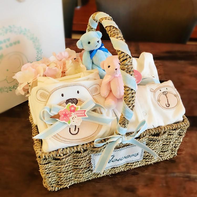新生儿礼盒婴儿衣服套装礼盒男女宝宝百天满月纯棉秋冬季用品送礼