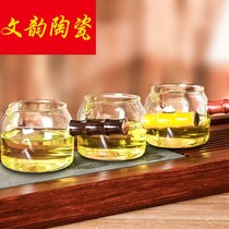 Glass tea making tea set side of the tea maker thickened hand-heat-resistant public cup kung Fu tea Sea Transparent Fair cup