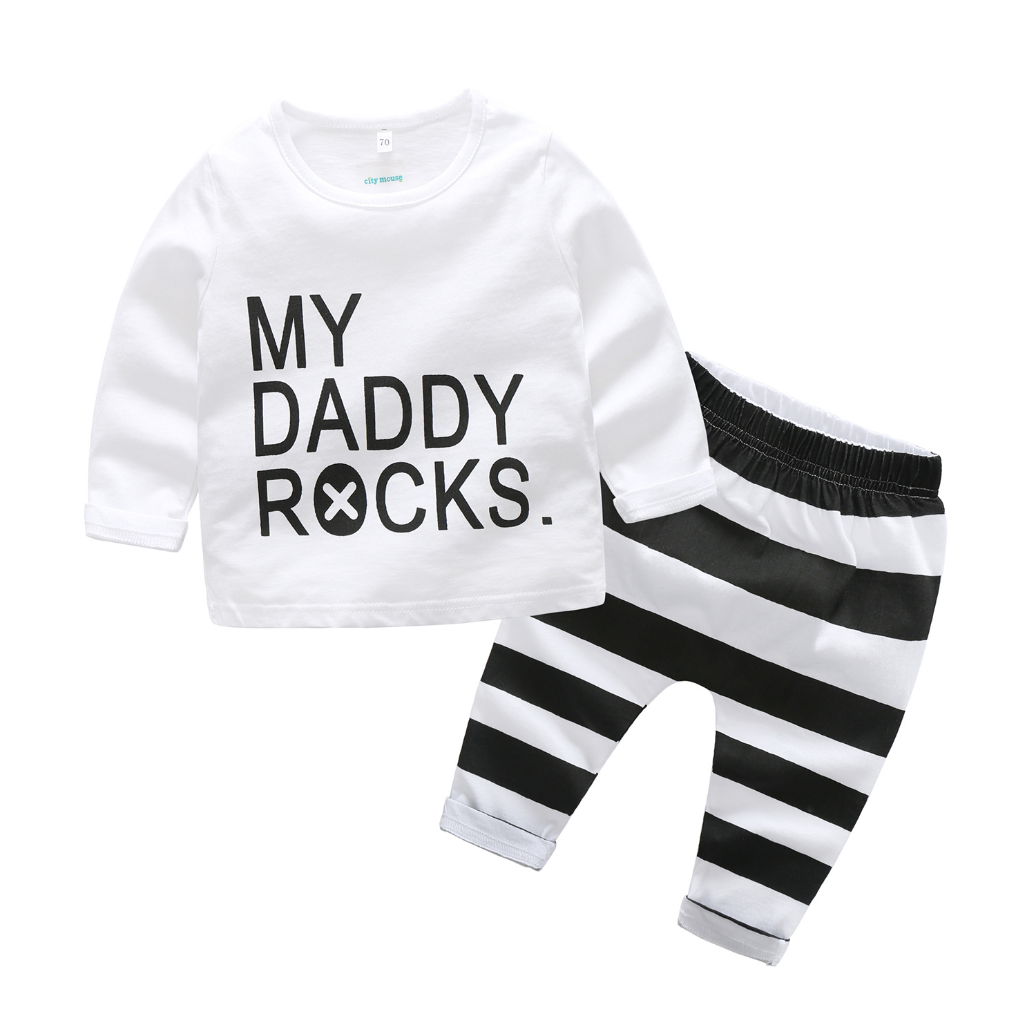 A undertakes foreign trade the spring and autumn period and the new boys long sleeve stripe two-piece fashion children's