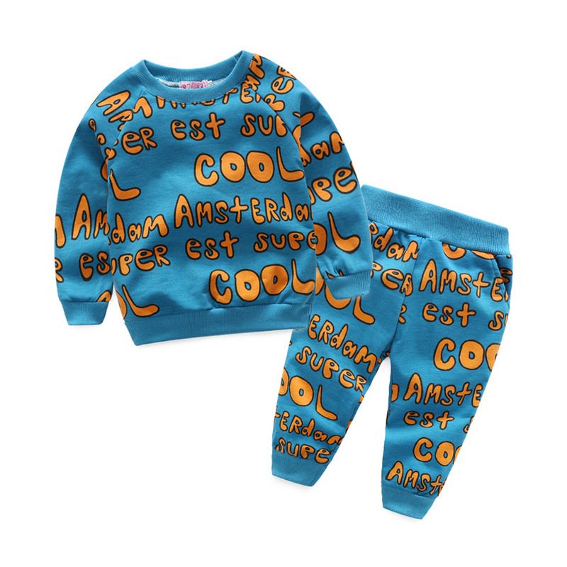 A generation of foreign trade spring and autumn section of long sleeves boys and girls full of printed letters shirt fas