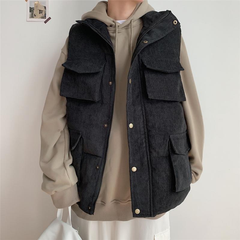 @方少男装秋冬韩版多口袋工装马甲券后88.00元