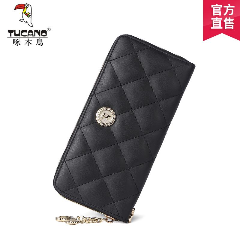 啄木鸟手拿包女士钱包长款2017新款韩版多功能时尚卡包WCB1171A