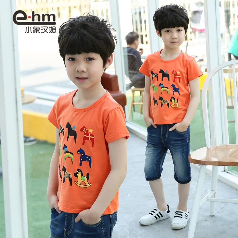 小象漢姆男童兒童圓領t恤