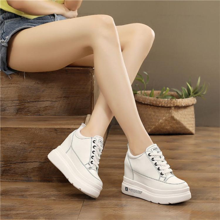 秋季新款10cm内增高百搭运动松糕鞋