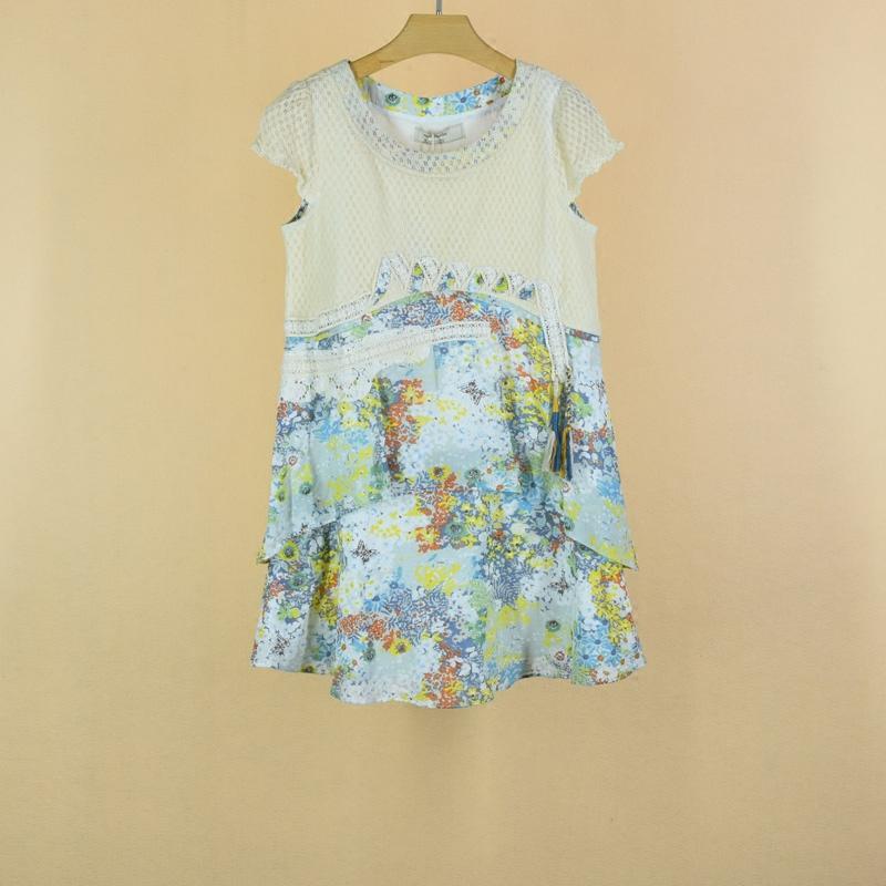 女子会舍之R.T.夏季森女短袖连衣裙N15X315717铅笔画不出彩色世界