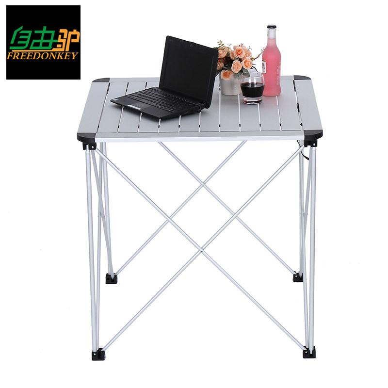 Новых аутентичных на открытом воздухе складной стол сын алюминиевых сплавов складной стол стул портативный обеденный стол барбекю стол пикник стол