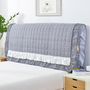 韩版床头罩系列  布艺全棉夹棉床头罩加棉床头保护套 皮床防尘罩