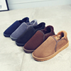 Snow boots low to help men and men's cotton-padded shoes Korean version of the bread cotton plus velvet boots warm winter shoes men's thick winter boots