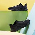 特步运动男鞋2021夏季新品网面透气轻便休闲黑色跑鞋979219320789