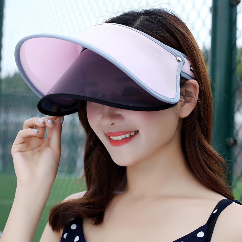 帽子女夏天防晒帽双层冰冰同款遮脸防紫外线遮阳帽户外出游太阳帽