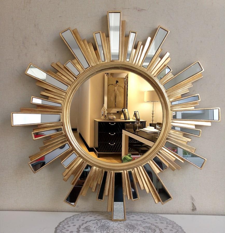 New hot selling European bathroom mirror glass block collage porch sun waterproof decorative mirror makeup wall mirror