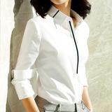 白色衬衫女职业正装2020韩版长袖气质内搭工作服显瘦工装免烫衬衣