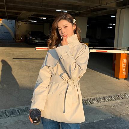 风衣女韩版宽松 薄款 收腰图片