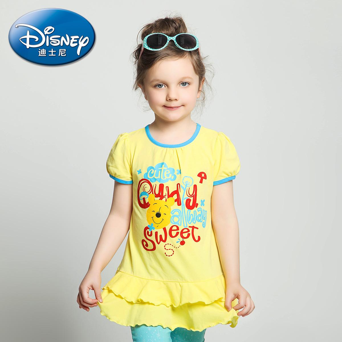 迪士尼小童女童圓領打底衫