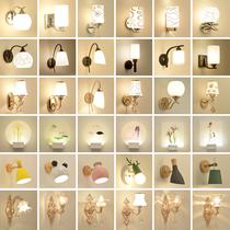 走廊过道床头新中式玻璃壁灯loft简约别墅电视墙售楼处长条吸壁灯