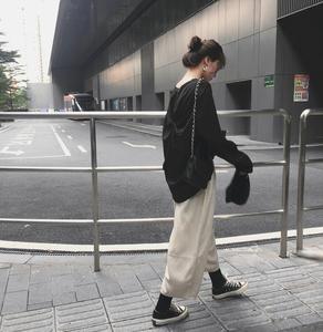 實價 實拍已檢測 新款韓版長袖T恤女露背寬松打底衫上衣