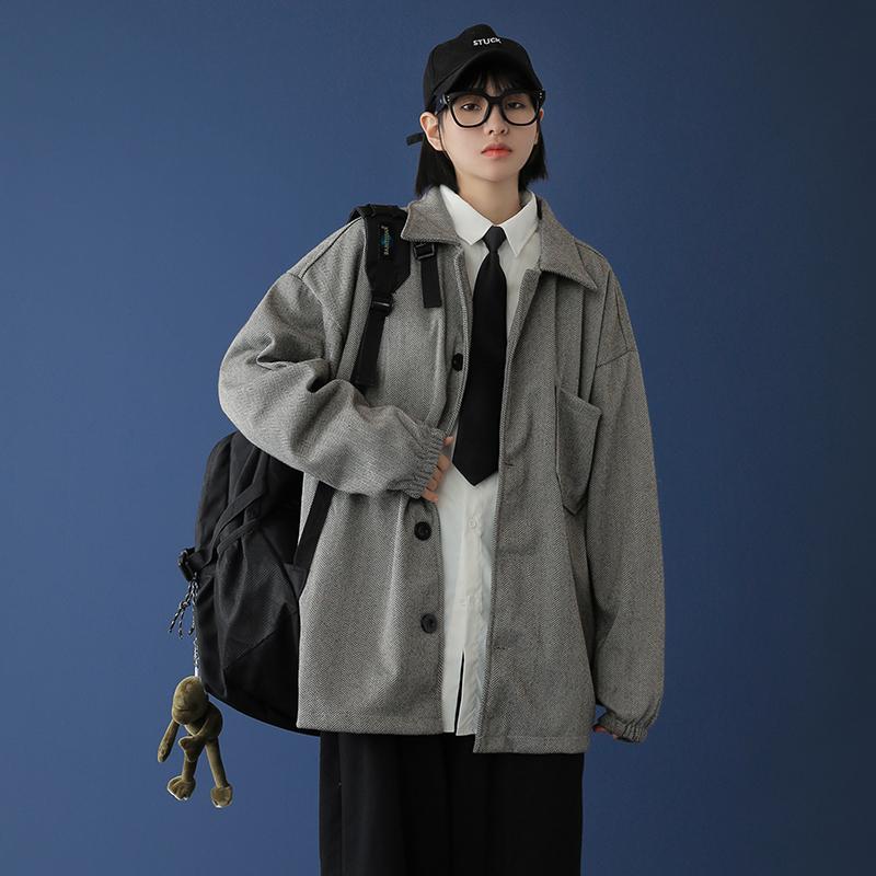 中性风 20冬季毛呢外套西装大衣 W20-P80(限95)
