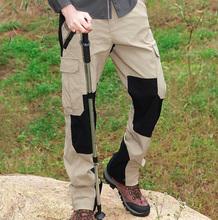 贝尔速干裤男户外运动徒步宽松大码弹力防水快干钓鱼多袋工装裤潮