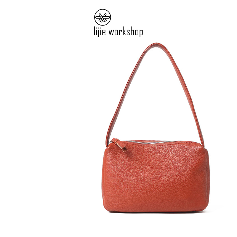 Lijie handbag summer leather simple versatile fashion soft skin affordable underarm bag single shoulder bag womens large capacity