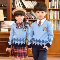 幼儿园园服女童装春秋冬款英伦风毛衣男童儿童小学生班服校服套装